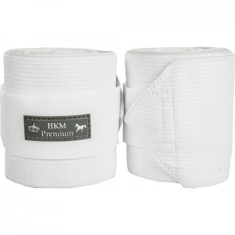 Bandaże polarowo-elastyczne HKM Premium białe