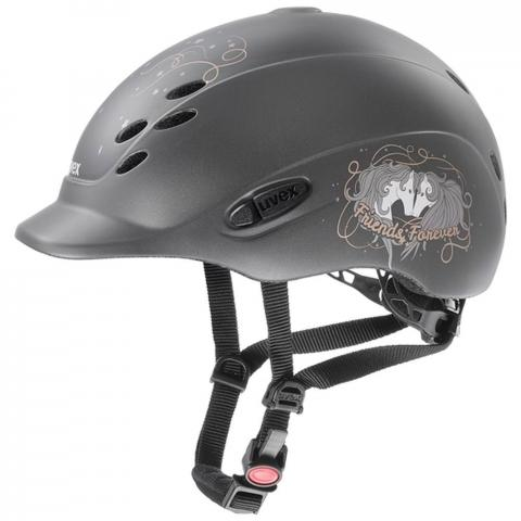 Kask UVEX Onyx Friends II antracytowy matowy