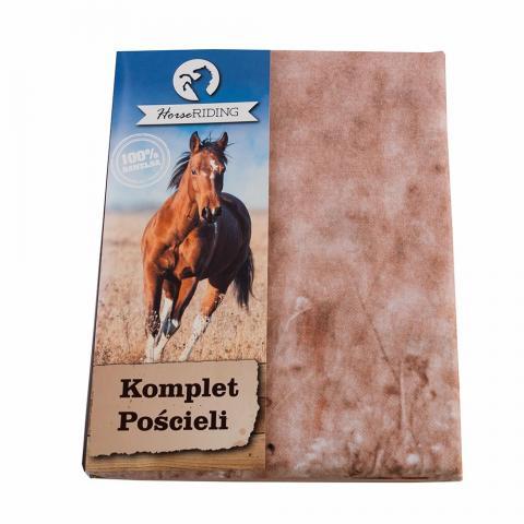 Pościel bawełniana Detexpol galopujący gniady koń
