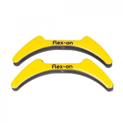 Wkładki magnetyczne do strzemion młodzieżowych Flex-on żółty
