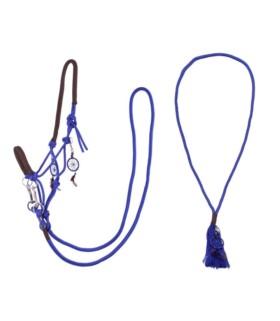 Kantar sznurkowy z wodzami i liną balansową QHP kobaltowy