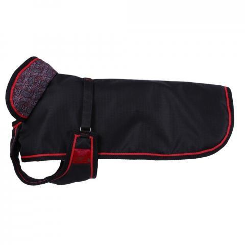Derka dla psa QHP Special Paisley, czarna