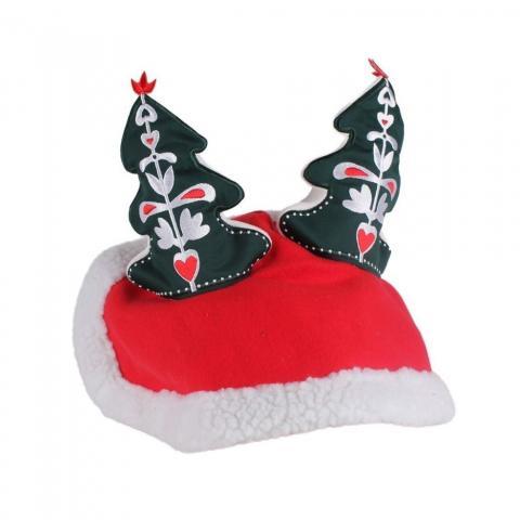 Nauszniki bożonarodzeniowe QHP z choinkami