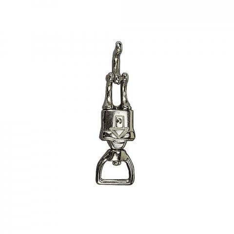 Karabińczyk bezpieczny Ekkia srebrny