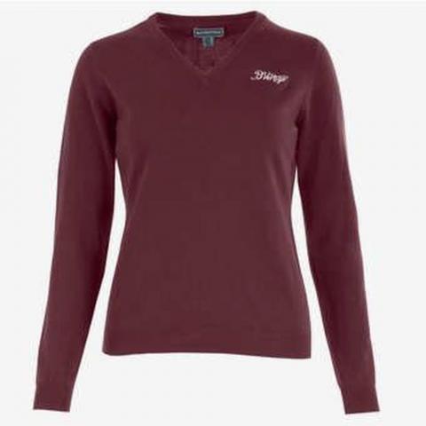 Sweter Nina B//Vertigo V-Neck bordowy