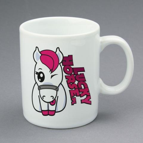 Kubek Lucky Horse z nadrukiem biały