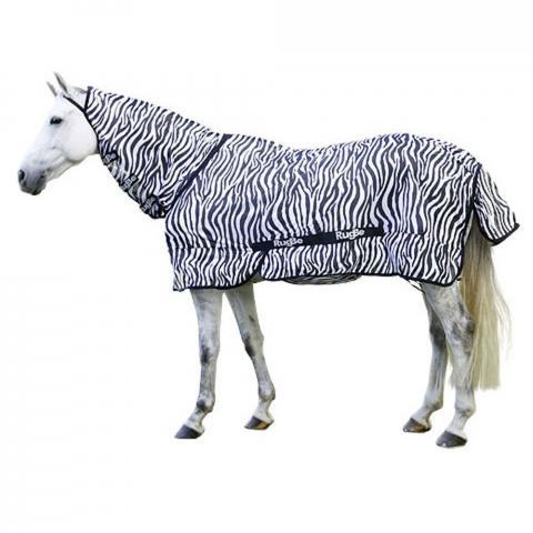 Derka siatkowa z kapturem Kerbl RugBe zebra
