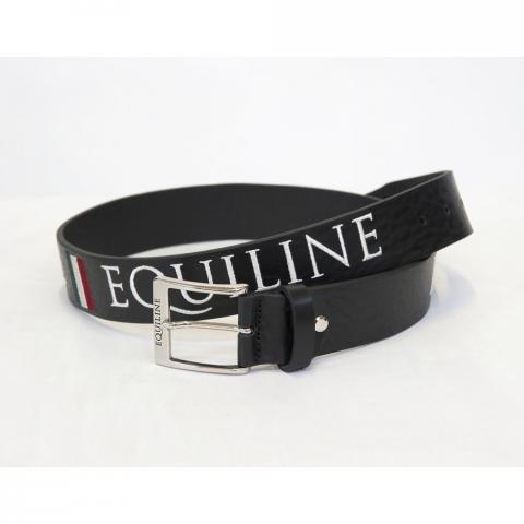 Pasek do spodni skórzany Equiline Ralph czarny
