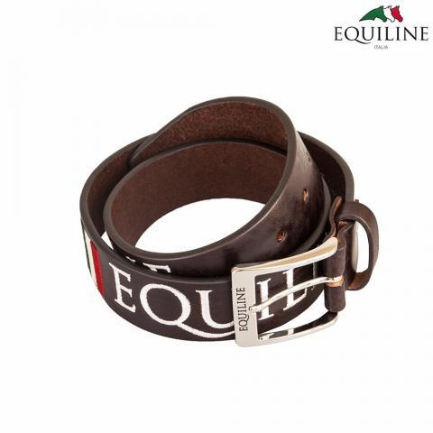 Pasek do spodni skórzany Equiline Ralph brązowy