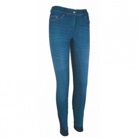 Bryczesy HKM Summer Denim Easy jeansowy-granatowy