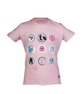 Koszulka dziecięca HKM Piccola Heart różowa