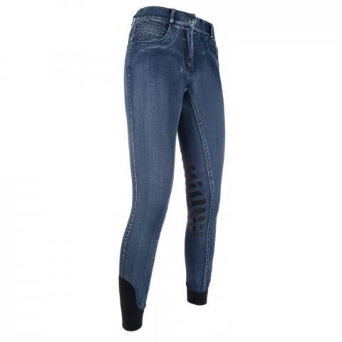Bryczesy HKM Rimini Denim Used jeansowe
