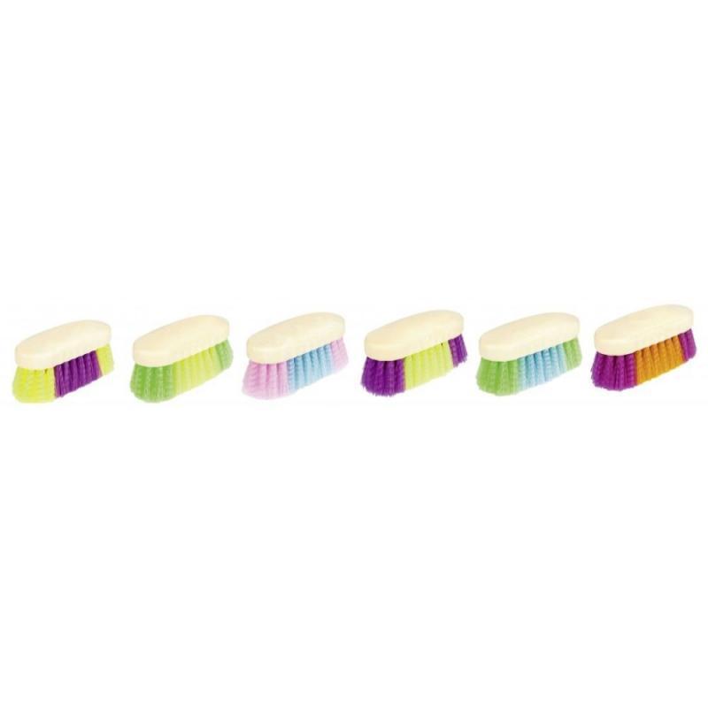 Szczotka HKM z ostrym włosiem owalna kolorowa wybierana losowo