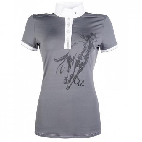Koszulka HKM turniejowa Rimini Horse Print szara