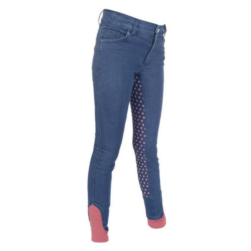 Bryczesy HKM Bibi & Tina Tohuwabohu jeansowe