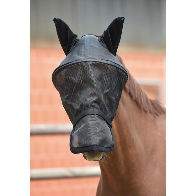 Maska siatkowa Busse z obręczą czarna