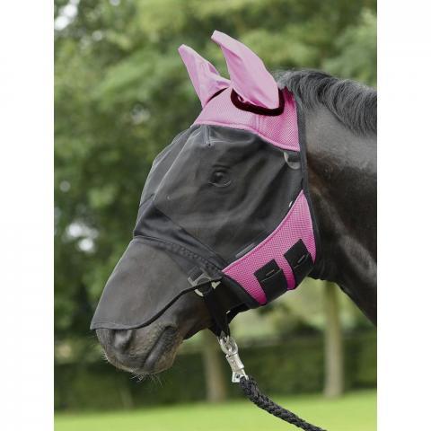 Maska na owady Busse Fly Cover Pro czarno-różowa
