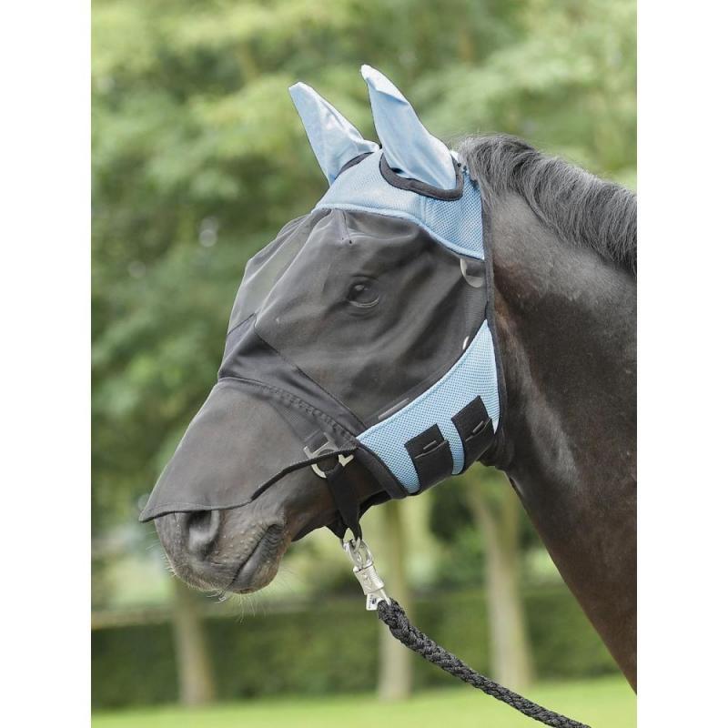 Maska na owady Busse Fly Cover Pro czarno-niebieski