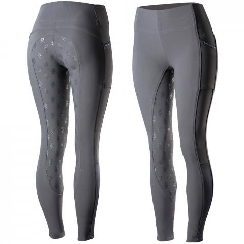 Bryczesy Leah windproof all season riding tights szare Horze
