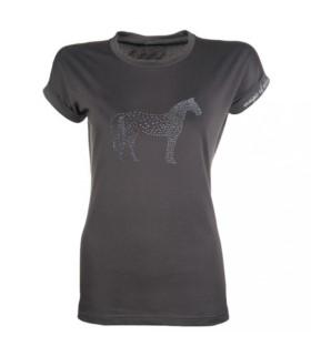 Koszulka damska HKM Crystal Horse antracytowa