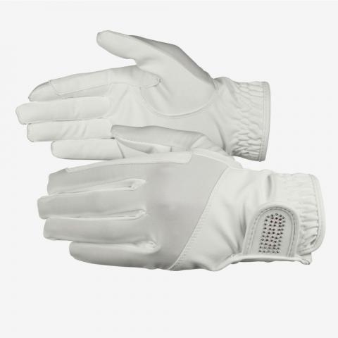 Rękawiczki letnie Horze Bling skórzane białe