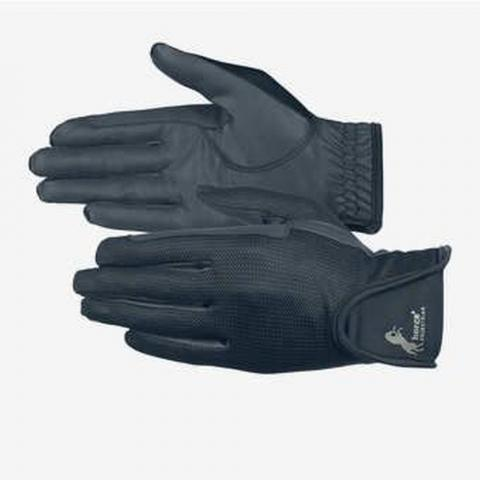 Rękawiczki letnie Horze skórzane granatowe