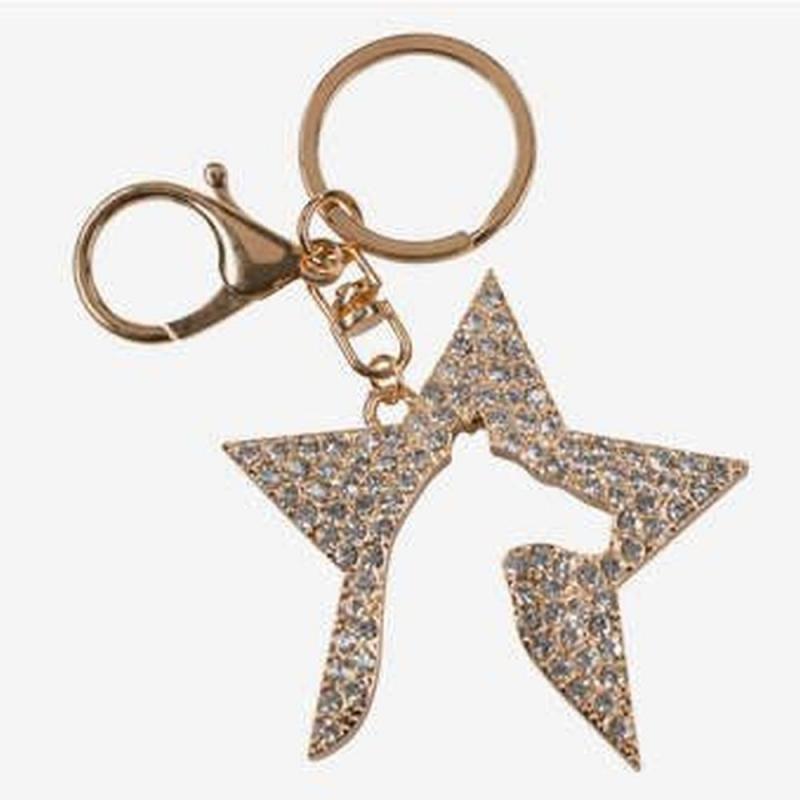 Brelok Horze gwiazda-koń złota z kryształkami