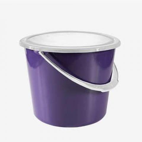 Wiadro Horze z pokrywką fioletowe