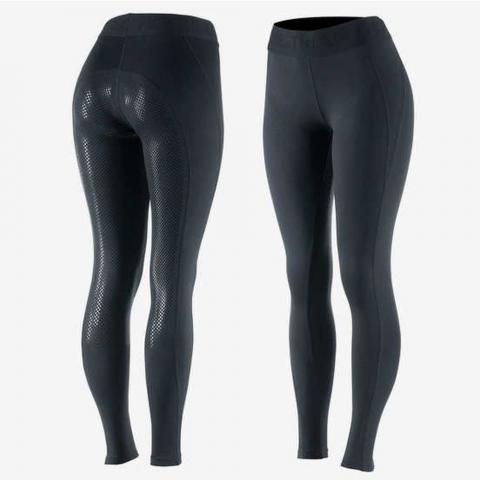 Legginsy damskie z silikonem Horze Madison czarne