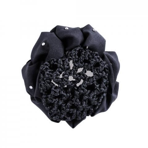 Siatka na włosy kwiatek QHP czarna