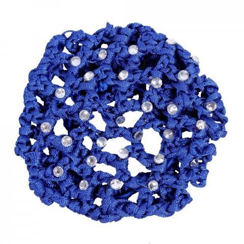 Siatka na włosy z perełkami QHP kobaltowa