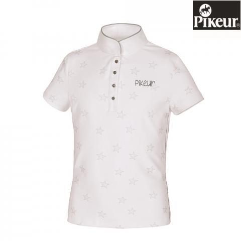 Koszulka konkursowa młodzieżowa Pikeur Filly biała w srebrne gwiazdki 2019