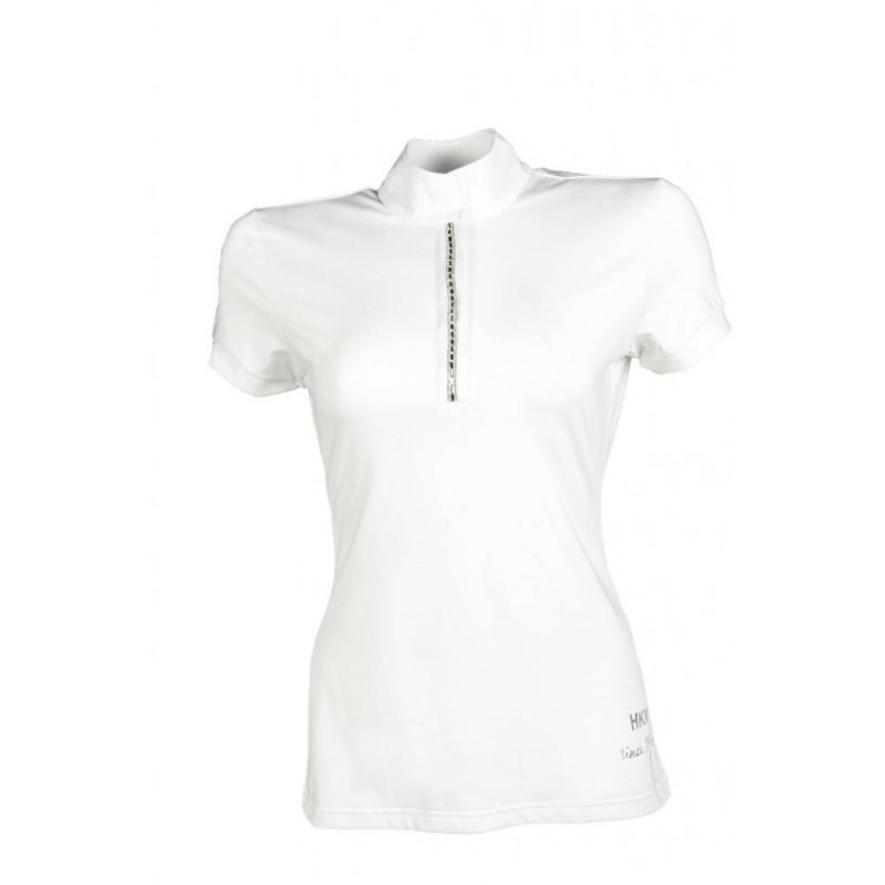 Bluzka konkursowa HKM Crystal biała