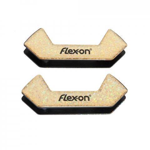 Wkładki magnetyczne do strzemion bezpiecznych Flex-on brokatowe złote