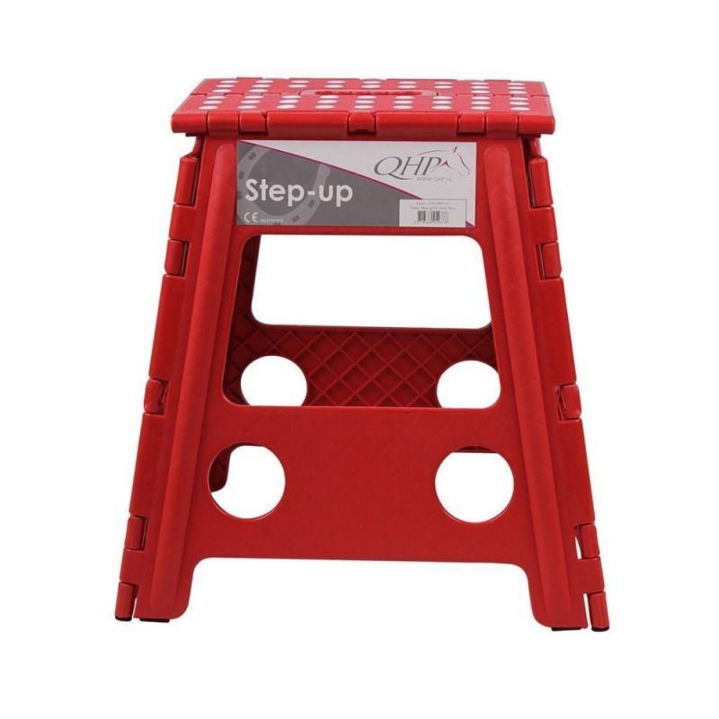 Stołek składany QHP Bright Red, czerwony