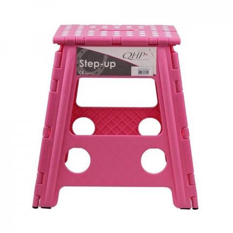 Stołek składany QHP Pink, różowy
