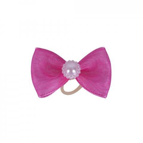 Gumka do włosów z kokardką QHP różowa