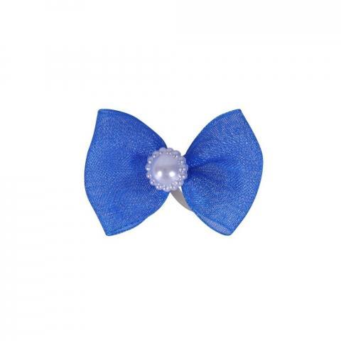 Gumka do włosów z kokardką QHP niebieska