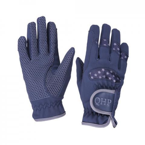 Rękawiczki Glove QHP Multi Star granatowo-szare