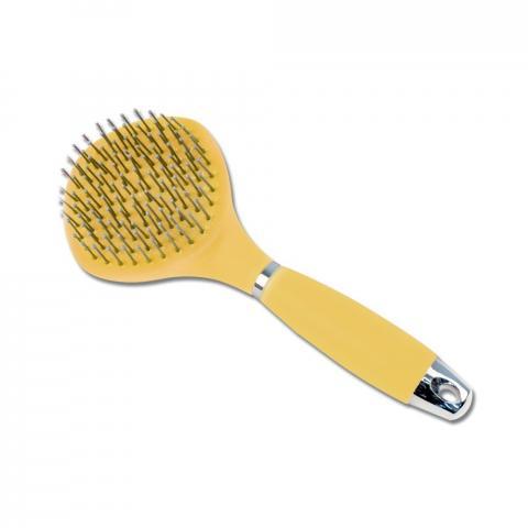 Szczotka do grzywy i ogona żelowa żółta