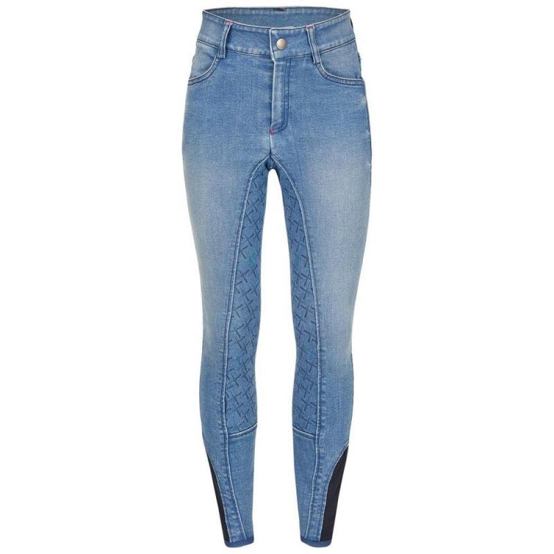 Bryczesy Busse Lara-Kids jeansowe jasne