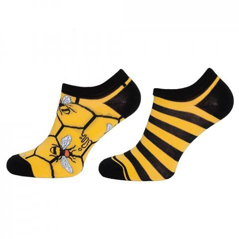 Skarpety Mondo-Calza krótkie żółte we pszczoły