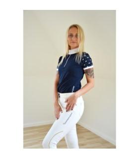 Bluzka konkursowa Equestrian Queen Beatrice granatowa