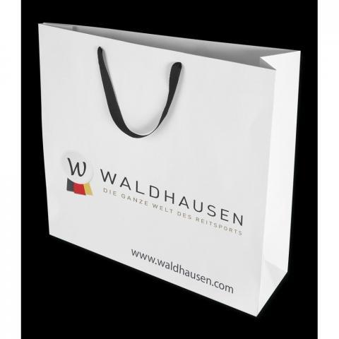 Torba papierowa Waldhausen biała