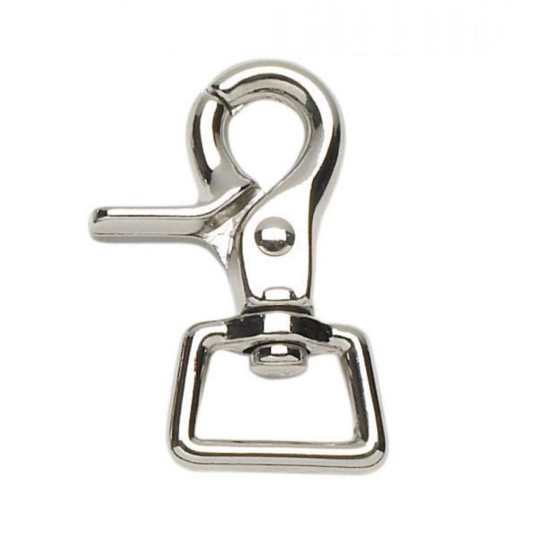 Karabińczyk szczypcowy Busse srebrny