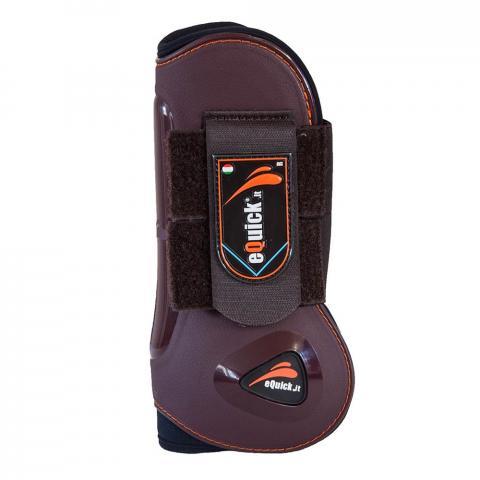 Ochraniacze eQuick eLight Velcro przód brązowe