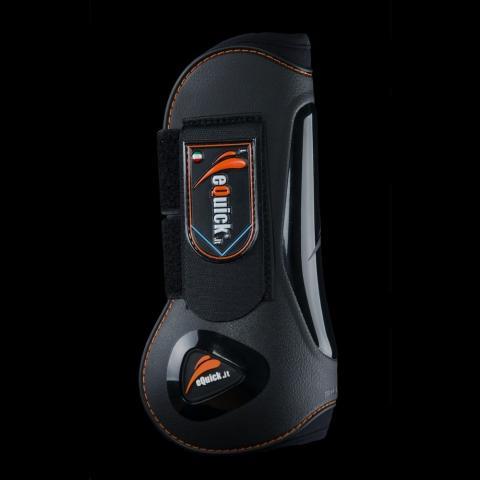 Ochraniacze eQuick eLight Velcro przód czarne