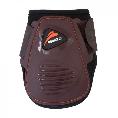 Ochraniacze eQuick eLight Velcro tył brązowe