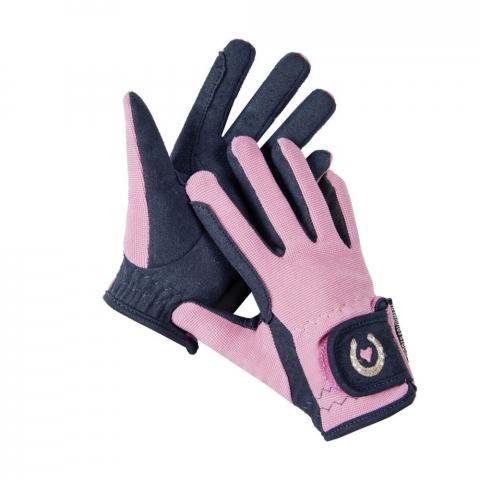 Rękawiczki HKM Little Sister różowe