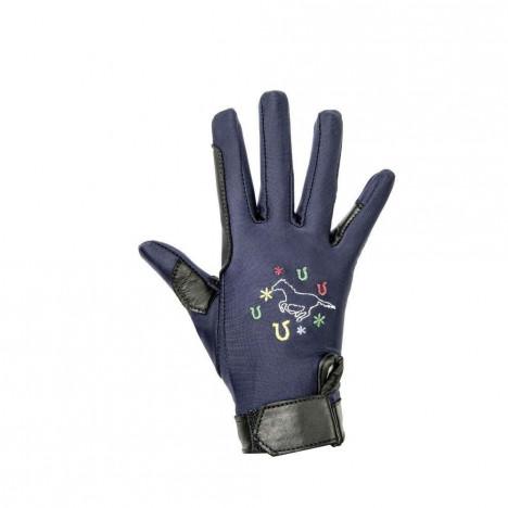 Rękawiczki HKM Galloping Horse dziecięce granatowe